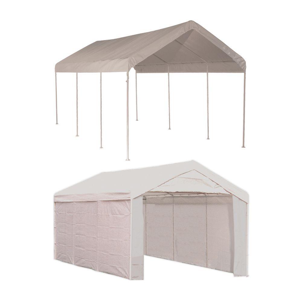 car canopy shelterlogic max ap 10 ft. x 20 ft. 2-in-1 white ZOIIFMZ