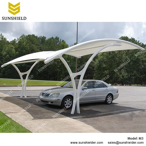 car canopy sunshield m3 metal car ports - portable membrane carport for sale -2 HOAFUTB