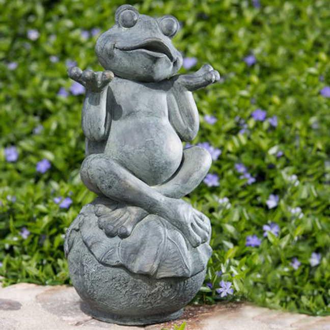 carefree frog garden statue CFEEWZJ
