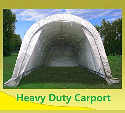 carport canopy 20u0027x12u0027 carport grey/white - garage storage canopy shed car truck boat EYXMAEX