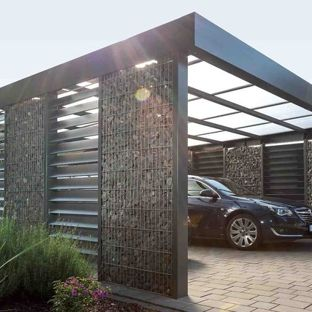 carport designs example of a large trendy detached two-car carport design in hanover OOAHVJS