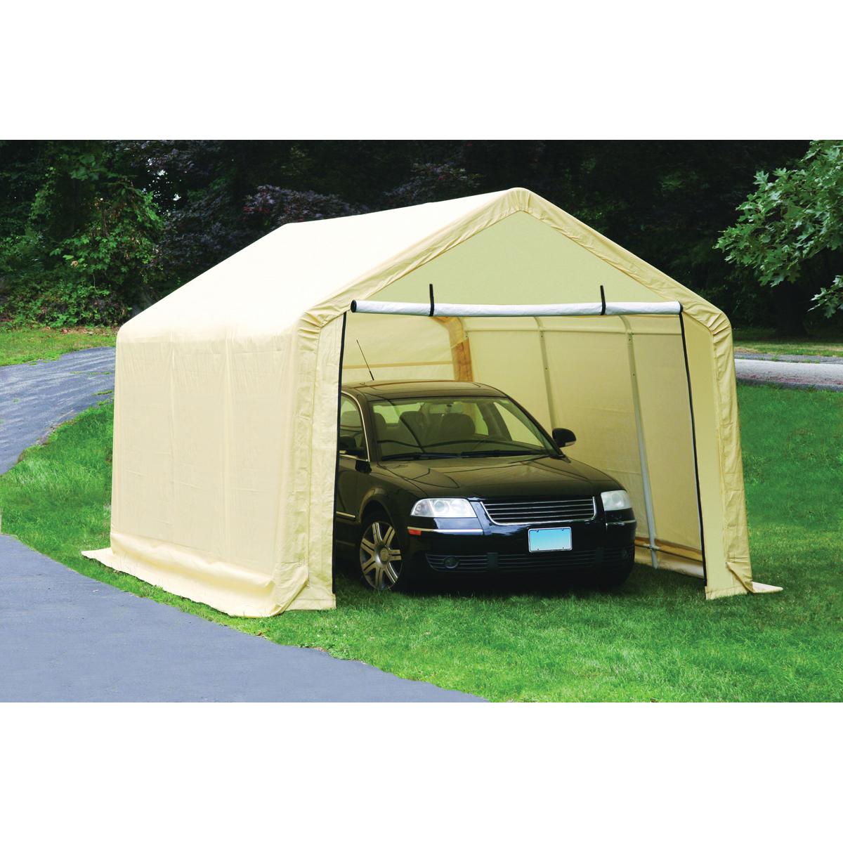 carport garage 10 ft. x 17 ft. portable garage QQCQEIS