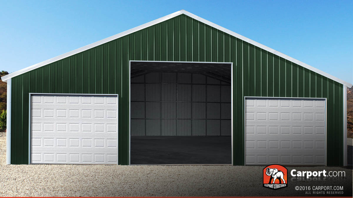 carport garage large commercial garage with three large roll up garage doors. LYGAOAI