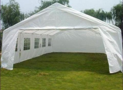 carport tent 20u0027 x 32u0027 large white heavy duty portable garage carport canopy party RIABOHI