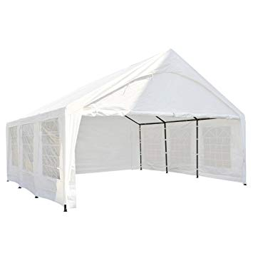 carport tent abba patio 20 x 20-feet heavy duty carport, car canopy storage with YWWZFNY