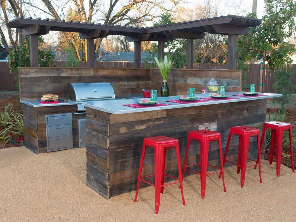 cedar outdoor buffet table UYLSXFI