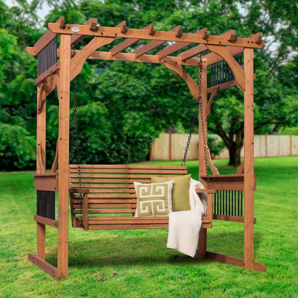 cedar pergola swing - patio products | backyard discovery YQBJEOE