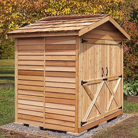 cedar sheds cedarshed mini storage shed kit OMLEUSS