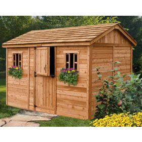 cedar sheds ... outdoor living 12u0027 x 8u0027 cabana garden shed YKWLHSY