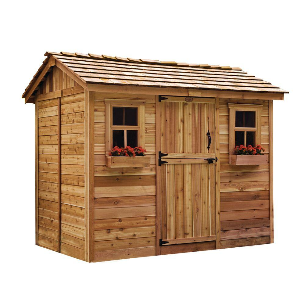 cedar sheds outdoor living today cabana 6 ft. x 9 ft. western red cedar AHOKASL