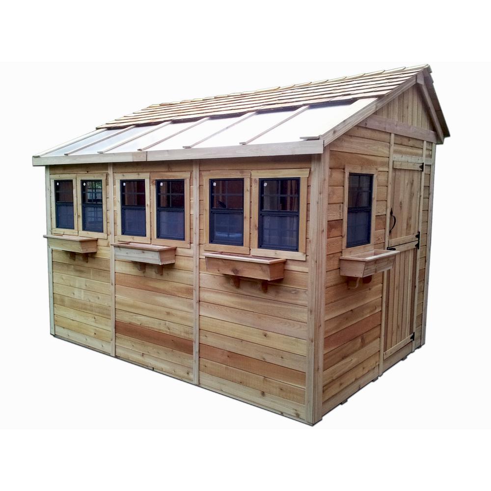 cedar sheds outdoor living today sunshed 8 ft. x 12 ft. western red cedar KWKZFZA