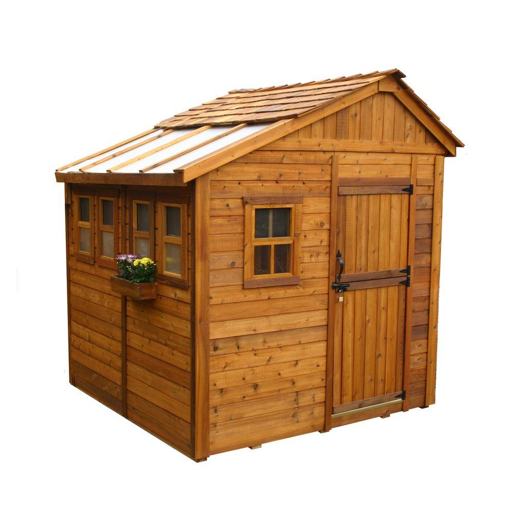 cedar sheds outdoor living today sunshed 8 ft. x 8 ft. western red cedar FZMJPVZ