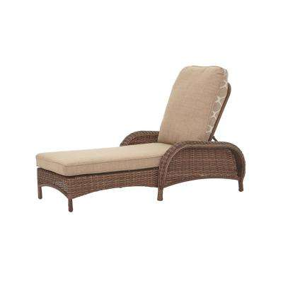 chaise lounge outdoor beacon park steel wicker outdoor chaise lounge ... XKHZLCS