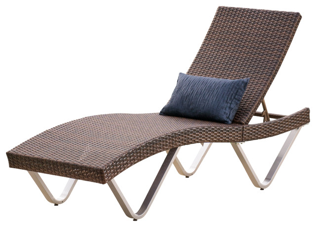 chaise lounge outdoor manuela outdoor single multibrown wicker chaise lounge chair ULAQASO