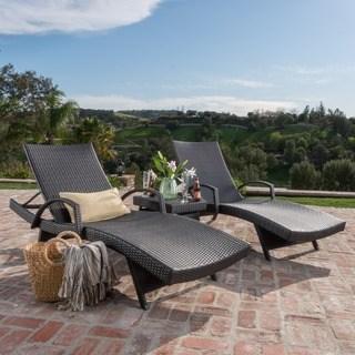 chaise lounge outdoor oliver u0026 james baishi 3-piece outdoor lounge set JKYCZTG