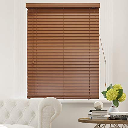 chicology faux wood blinds / window horizontal 2-inch venetian slat, faux MZDAUKU