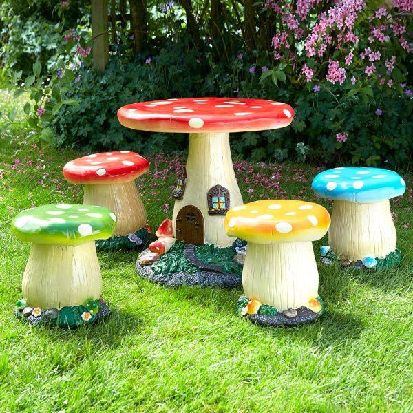 childrens garden furniture add a touch of fantasy to any garden with this 5 piece KIHAVEZ