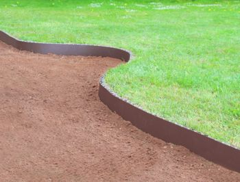 cleveredge easy lawn edging - brown (h5.5in x l16ft 4in) ... PNPFMHL