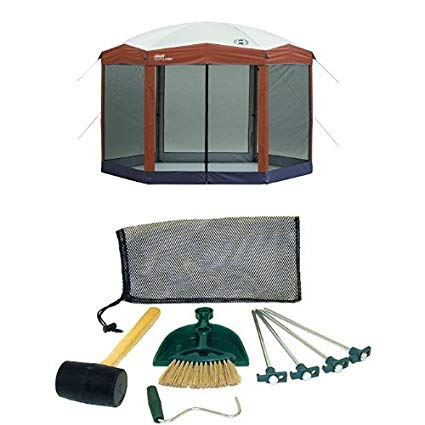 coleman 12 x 10 instant screened canopy and coleman tent kit VJTFIIO