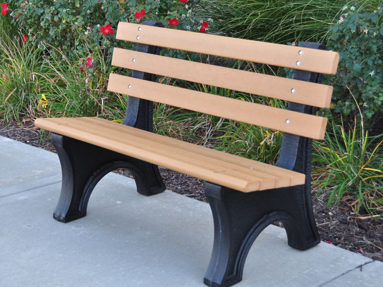 comfort park avenue bench by jayhawk plastics - outdoor benches for parks DTXMBBF