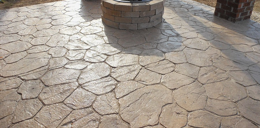 concrete driveways and patios | stamped concrete MBYNQNB