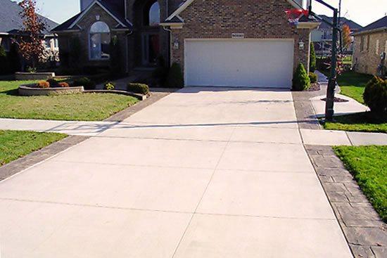 concrete driveways concrete vs asphalt driveway SZMWDGF