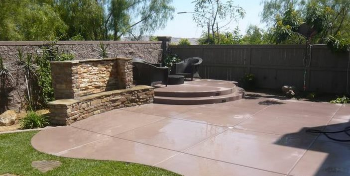 concrete patio ideas colored concrete quality living landscape san marcos, ca IDQRZHT