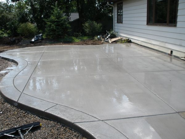 concrete patio ideas concrete patio with stamped border TOMMSCY