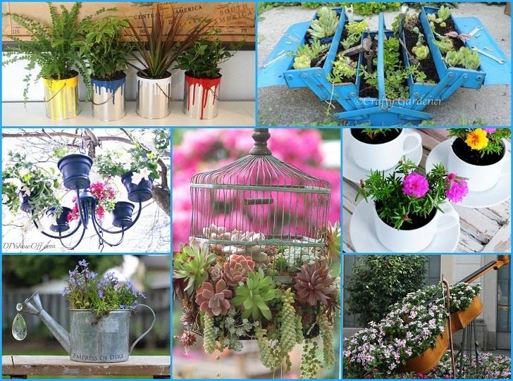 container gardening ideas 40 unique u0026 fun container garden ideas BZNZNQX