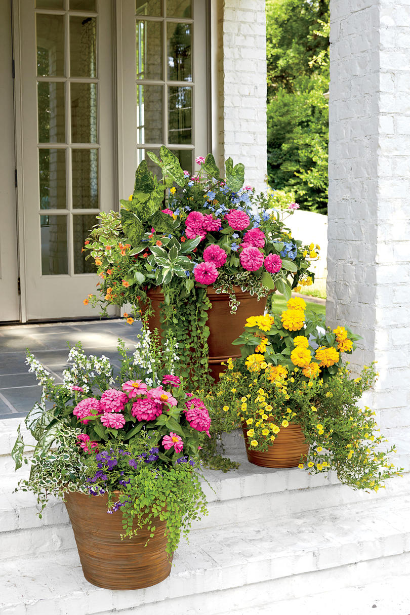 container gardening ideas traditional freestanding container HSBIITV