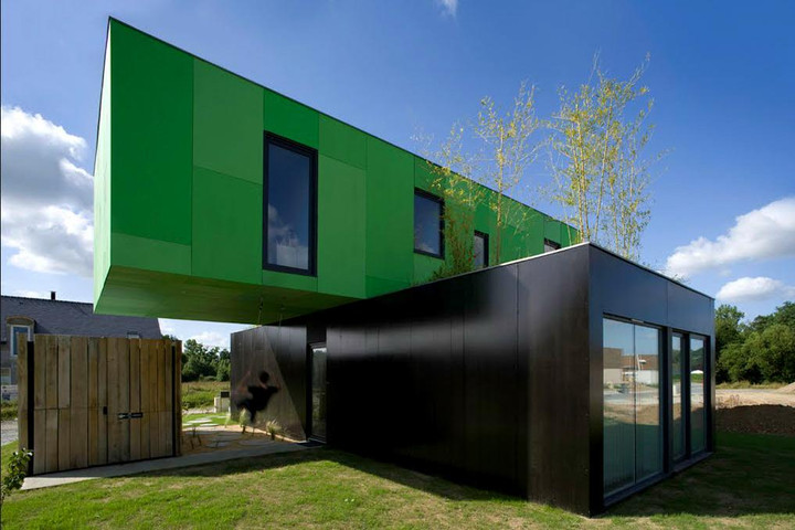 container house design green and black containers house FXUDWIK