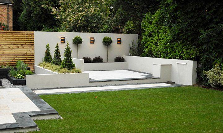 contemporary gardens contemporary garden white walls - google search XLDBSIE