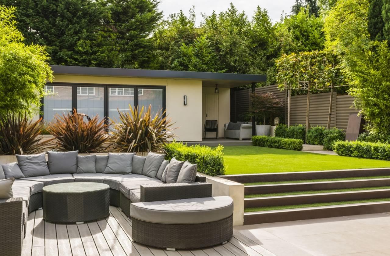 contemporary gardens contemporary town garden finchley n3 - jilayne rickards north london garden BUACBCJ
