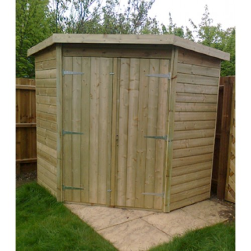 corner sheds 7 x 7 pressure treated shiplap corner shed CNEDNWY