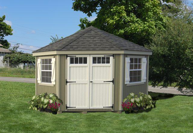 corner sheds colonial five corner 10 x 10 shed   bettersheds.com IQFVWUK