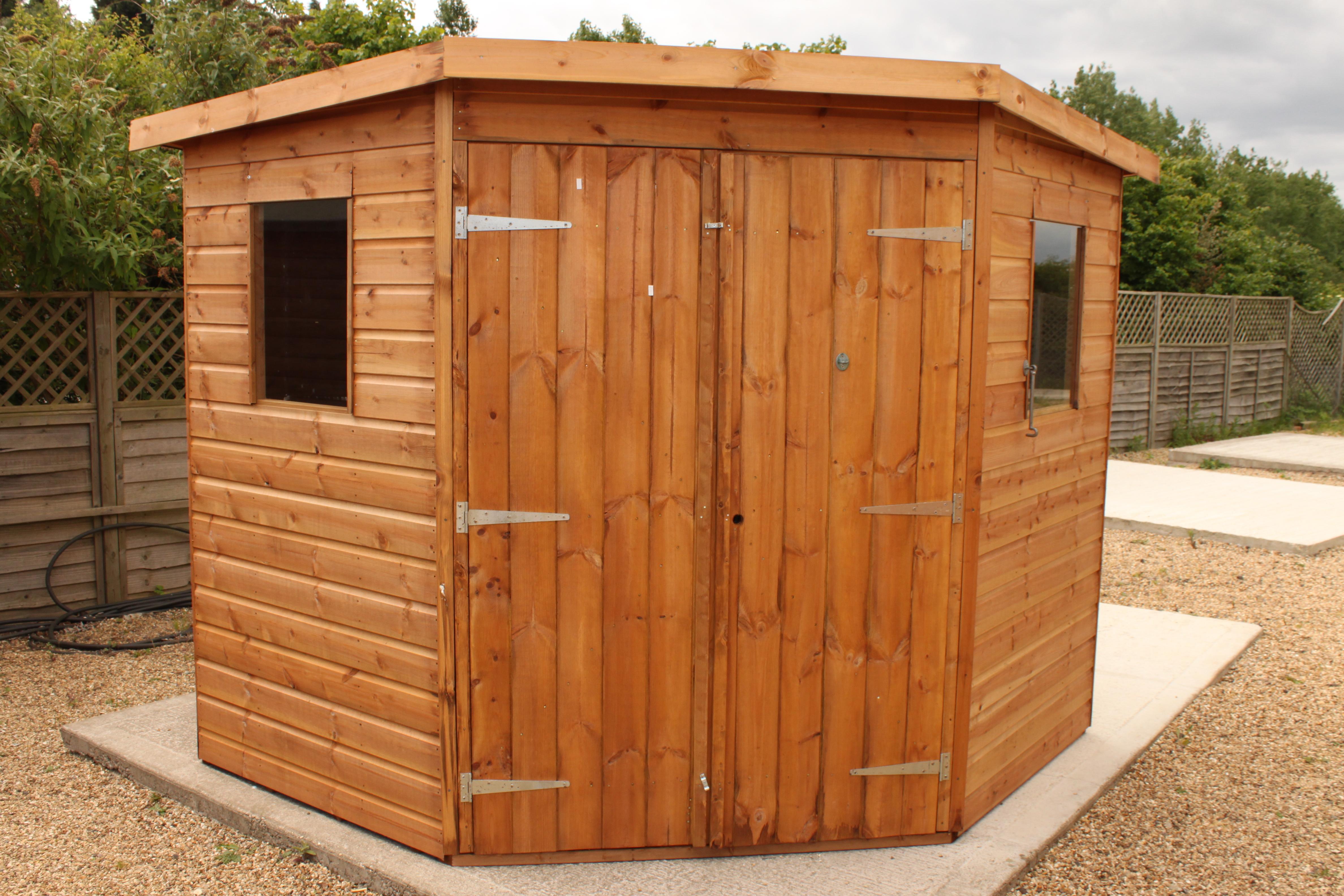 corner sheds corner shiplap shed 7 x 7 - merit garden products QYNANQK