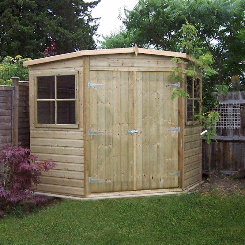 corner sheds shire pressure treated corner shed 8x8