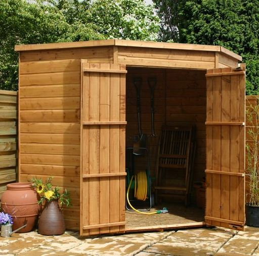 corner sheds this 7×7 corner shed is windowless, making it a perfect security shed. CNMGWAX