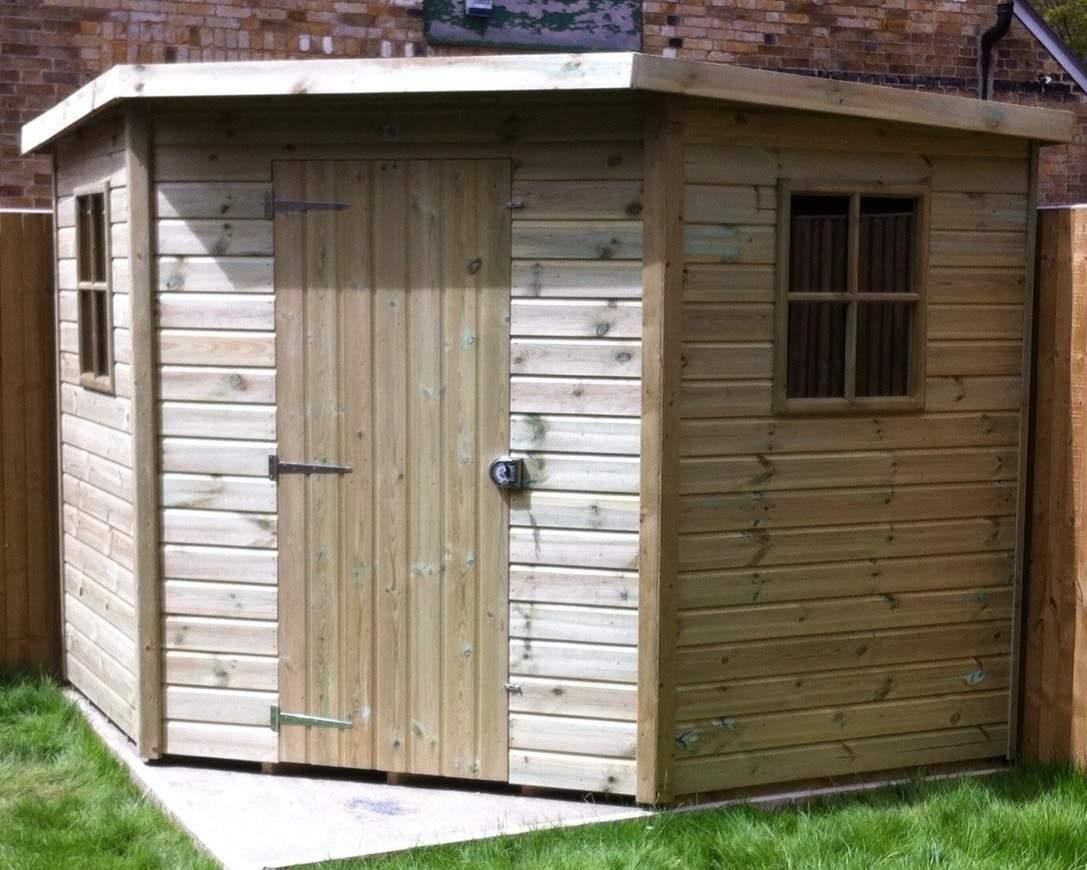 corner sheds winchester corner shed - premium treated