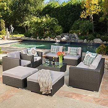 cortez sea 9 piece outdoor wicker furniture sectional