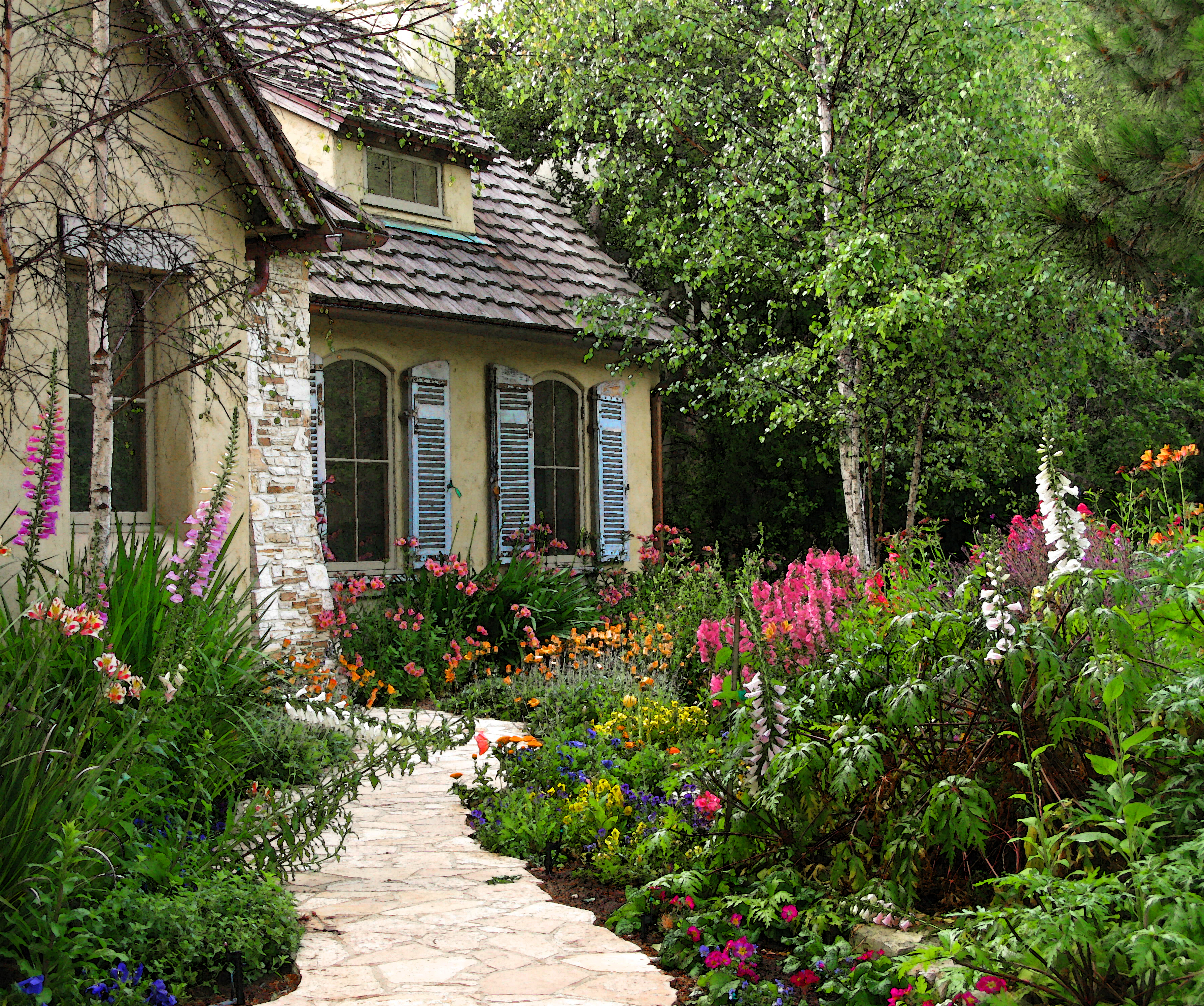 cottage gardens carme; 195fairytale cottage KTMLWXY