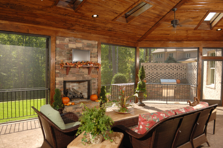 covered patio ideas this screened in patio has an enormous arched wooden ceiling with ample CJKESMG