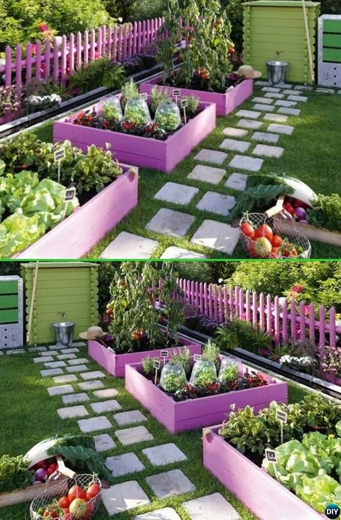 creative garden ideas paint pallet garden edging - 20 creative garden bed edging ideas projects HGACDFR