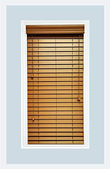 custom-made, faux wood horizontal window blinds, 2 inch slats, inside mount SYNNSGH