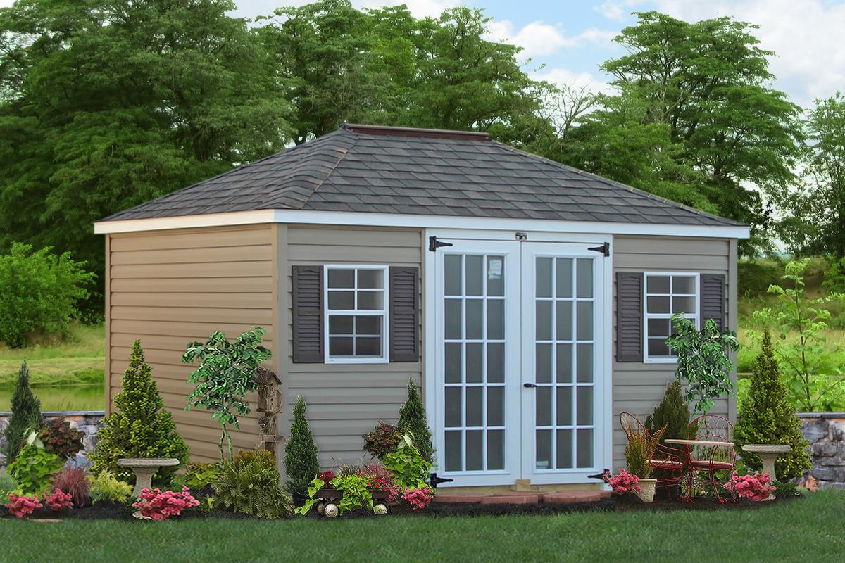 custom sheds vinyl hip roofed sheds WFPOOJP