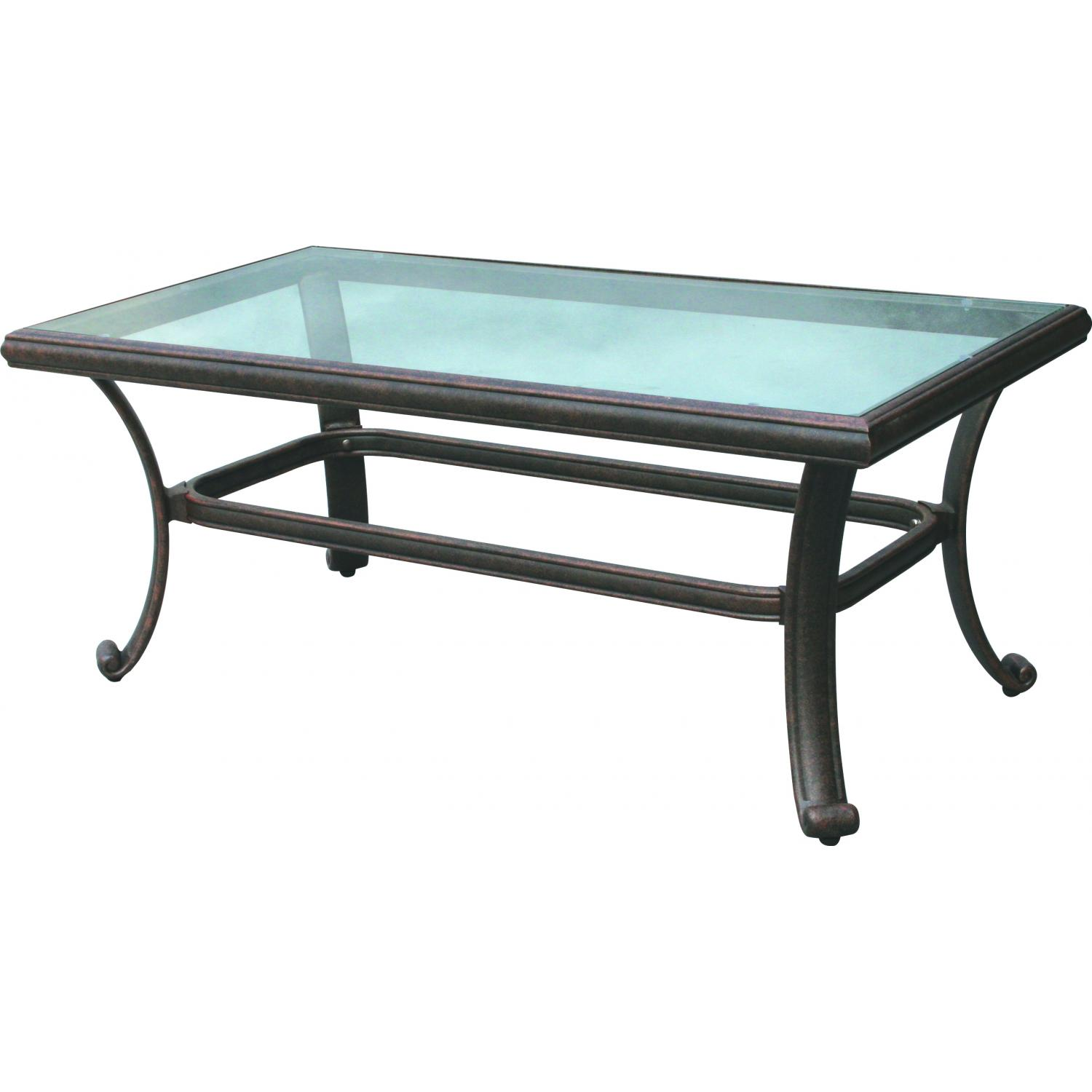 darlee classic 42 x 24 inch cast aluminum patio coffee table with DRTOOEC