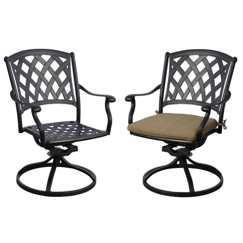 darlee ocean view swivel patio chairs in antique bronze (set of 2) XRJPXGY