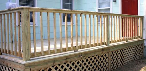 deck balusters completed wood deck railing. YKDGJRJ