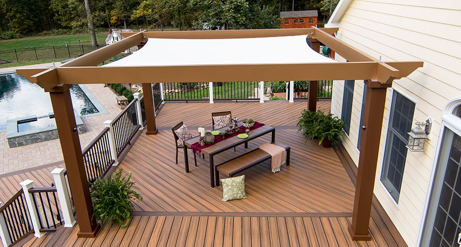 deck canopy tensioned shade sail pergola canopy our tensioned shade sail canopy  provides RPGGRAT