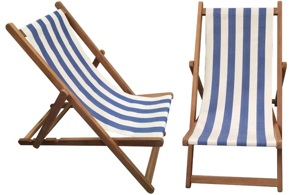 deck chairs blue u0026 white stripe deckchair - soccer stripe KKNOLSH
